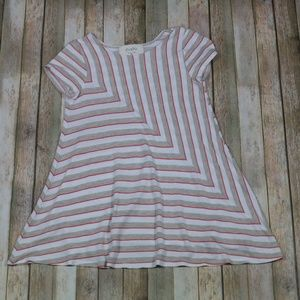 Anthropologie Puella Angled Stripe Tunic Tee/Top